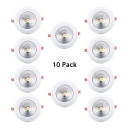 (10 Pack)5/10/15W Circle Recessed Light 3/3.5/6 Inch Wireless LED Fixture Light Recessed in White/Warm White/Cool White