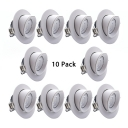 (10 Pack)360°Adjustable Angle Recessed Light Kitchen Aluminum Wireless Ceiling Light Fixture in Neutral