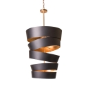 Restaurant Cafe Spiral Shade Chandelier Metal 10 Lights Industrial Hanging Lamp