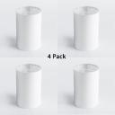 (4 Pack)20W Cylinder LED Ceiling Light White/Black COB Spot Light in White/Warm White for Bedroom Kitchen Balcony