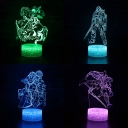 Warrior Pattern 3D Night Light Birthday Christmas Gift 7 Color Changing LED Bedside Light with Touch Sensor