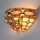 Abstract Pattern Sconce Light 1 Light Tiffany Style Vintage Wall Light for Dining Room Bedroom