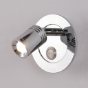 High Brightness LED Spot Light Recessed 1 Head Angle Adjustable Wireless Wall Light in Chrome