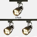 (3 Pack)High Brightness PVC Track Light Museum Boutique 1 Head Rotatable Spot Light in White/Black/Red