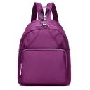 Fashion Solid Color Nylon Waterproof School Bag Backpack 23*30 CM
