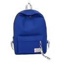 Chic Letter Ribbon Detail Zipper School Bookbag Backpack 30*12*41 CM