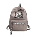 Cool Street Style Letter Printed School Bag Backpack 29*11*40 CM