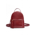 New Stylish Solid Color PU Leather Convertible Shoulder Bag Backpack 19*10*21 CM