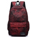 Trendy Printed Large Capacity Canvas Travel Bag College Backpack 30*15*45 CM