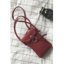 Stylish Solid Color Mini Cell Phone Crossbody Bag 11*3*17 CM