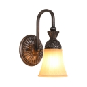 Bell Shade Dining Room Sconce Light Metal 1/2/3 Lights Vintage Style Wall Light in Bronze