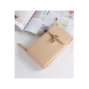 Fashion Solid Color Hasp Long Strap Cell Phone Crossbody Bag 18.5*3.5*11 CM