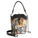 Designer Colored Tree Printed Crossbody Bucket Bag 14*10*19 CM