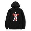 New Trendy Cool Comic Anime Character Printed Long Sleeve Pullover Hoodie