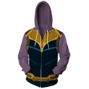 New Fashion Comic Cosplay 3D Printed Long Sleeve Zip Up Hoodie
