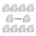 (10 Pack)12/15W Round Recessed Light 8 Inch LED Flush Mount Recessed in Warm/White for Dining Room Hallway