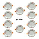 (10 Pack)Beautiful 5/9/12W Recessed Light 3-4/4.5-5 Inch Flush Mount Recessed in White/Warm for Foyer