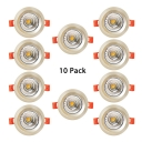 (10 Pack)3.5-4 Inch Circle Recessed Light 7/10W Wireless Flush Mount Recessed for Office Meeting Room