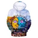 Tomorrowland Fashion Cool 3D Cartoon Sun Print Pullover Unisex Hoodie