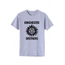 WINCHESTER BROTHERS Graphic Printed Short Sleeve Summer Basic T-Shirt