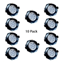 (10 Pack)White/Black Crystal Light Fixture Recessed 5W 2-3 Inch Recessed Down Light in White/Warm for Mall