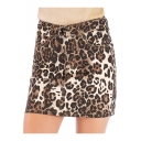 New Stylish Khaki Leopard Printed Summer High Rise Mini Bodycon Skirt