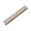 1/2 Pack 10 LED Cabinet Lamp Infrared Sensing Dusk to Dawn Sensing Rose Gold Closet Light with USB Charging Port in White/Warm