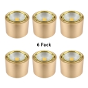 (6 Pack)Angle Adjustable LED Spot Light Aluminum Silver/Gold Cylinder Light Fixture in White/Warm for Kitchen