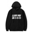 Unique Cool Letter I Love You 3000 Times Basic Long Sleeve Pullover Unisex Hoodie
