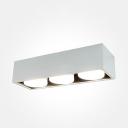 Dining Room Bedroom LED Spot Light Metal High Brightness 3 Heads Flush Mount Light in White/Warm
