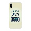New Fashion Cool I Love You 3000 Print Phone Case for iPhone