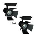 (2 Pack)High Brightness Black/White Track Light 1 Light Aluminum Rotatable Ceiling Light in Warm White/Cool White