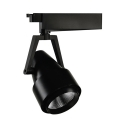 Showroom Black/White Track Light Aluminum Angle Adjustable 1 Light Light Fixture in White/Warm White