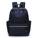 Simple Solid Color Multifunction Laptop Backpack College Backpack 34*14*43 CM