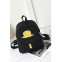 Lovely Hat Beard Patched Leisure Backpack for Girls 24*10*26 CM