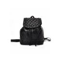 Chic Solid Color Rivet Embellishment Drawstring Backpack 25*13*30 CM