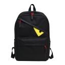 Unisex Cute Cartoon Eye Pattern School Bag Backpack with Zippers 28.5*12*42 CM