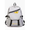 Unisex Cute Cartoon Eye Pattern Multipurpose Canvas Travel Bag Laptop Backpack Bookbag 28*12*36 CM