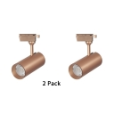 (2 Pack)Rotatable Cylinder Ceiling Light 1 Head Metal LED Spot Light for Display Window Stage
