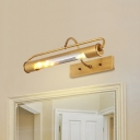 Metal Tube Sconce Light 2 Lights Classic Style Wall Light in Brass for Dining Room