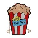 Cute Cartoon Creative Popcorn Shape Crossbody Sling Bag 10.5*6*23.5 CM