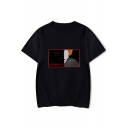 Popular It Chapter Two Clown Print Basic Round Neck Short Sleeve Loose Casual Tee