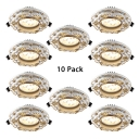 (10 Pack)2-4 Inch 3W Recessed Light Aluminum Round Flush Mount Recessed in Warm White/Cool White/White