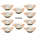 (10 Pack)Round LED Recessed Kitchen 3.5/6 Inch Wireless Ceiling Light Recessed in White/Warm White/Neutral