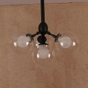 Modo Ceiling Pendant with Inner Frosted Glass 4 Lights/5 Lights Industrial Chandelier Lighting