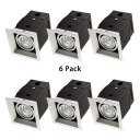 (6 Pack)10/20/30W Square Recessed Down Light Wireless LED Light Fixture Recessed in Neutral