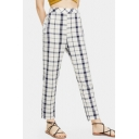 Summer Classic Plaid Printed Casual Straight Fit Pants