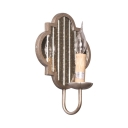 Vintage Style Candle Wall Light Metal Mirror 1 Light White Sconce Light for Dining Room Hallway