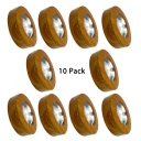 (10 Pack)Energy Saving LED Spot Light Wood Aluminum Circle COB Down Light in White/Warm White for Study Bedroom