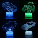 7 Color Touch Sensor 3D Night Light Off-Road Vehicle Remote Control LED Bedside Light for Christmas Gift